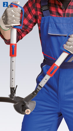 Cable Shears/Cutters (ratchet action) with telescopic handles
